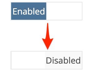 Enabled -> Disabled.