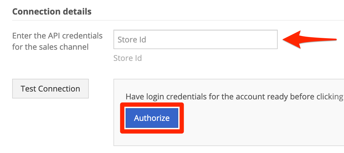 Enter PayScape Store ID, and click Authorize.