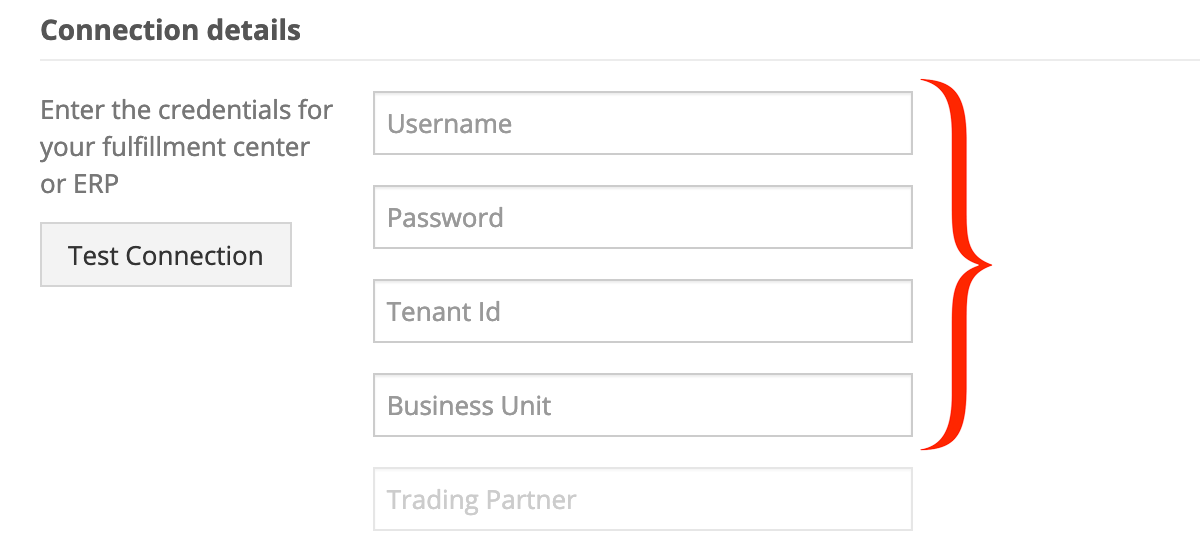 In Connection Details, enter your Deposco API credentials.
