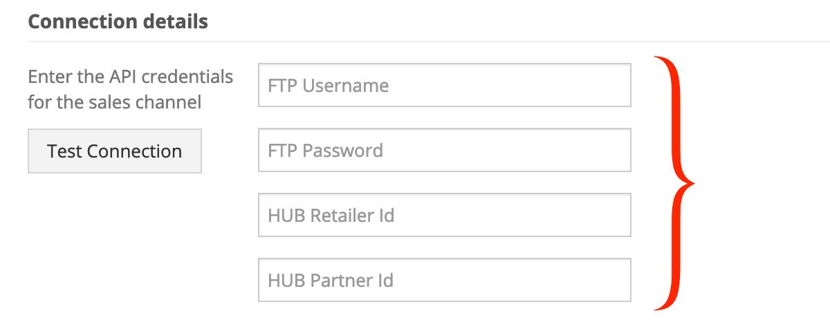 CommerceHub API credentials