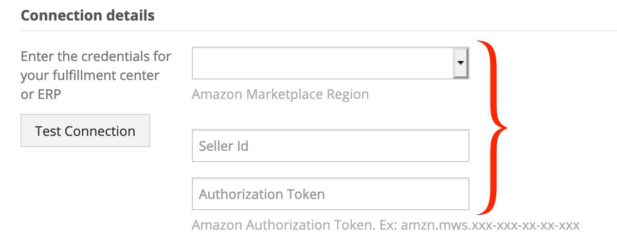 Fulfillment by Amazon API credentials.