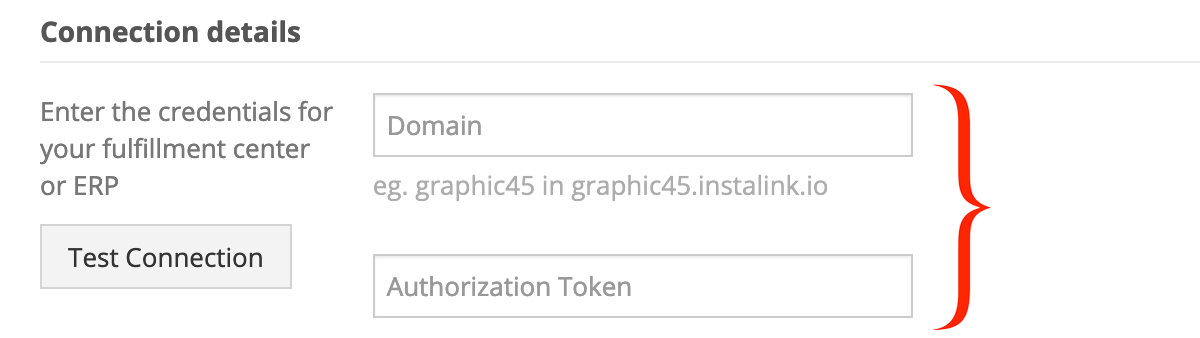 Instalink API credentials