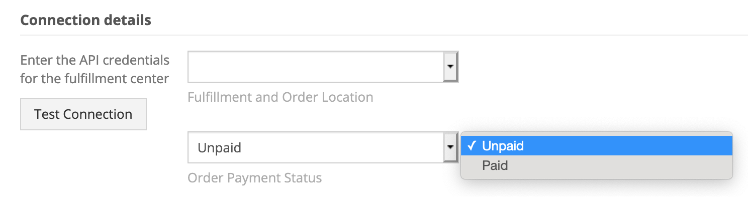 Linnworks connection options