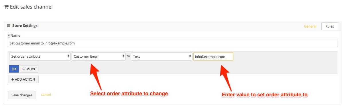 PackageBee - Enter attribute values