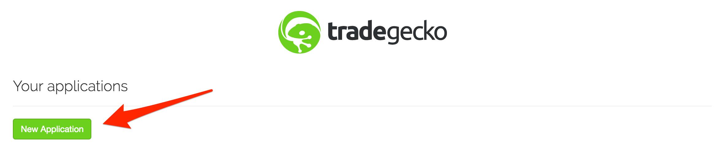 Add new application in TradeGecko.