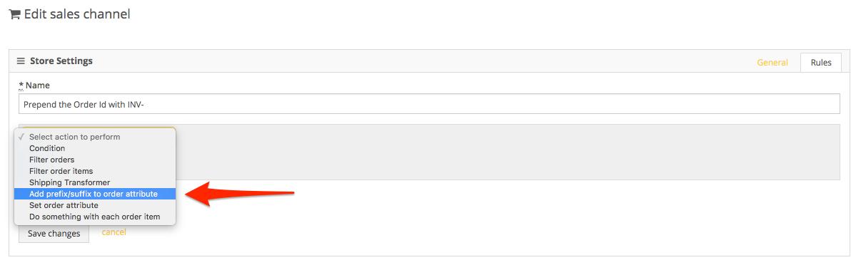 PackageBee - Add prefix/suffix