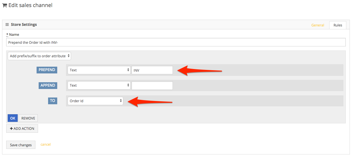 PackageBee - Enter affixes
