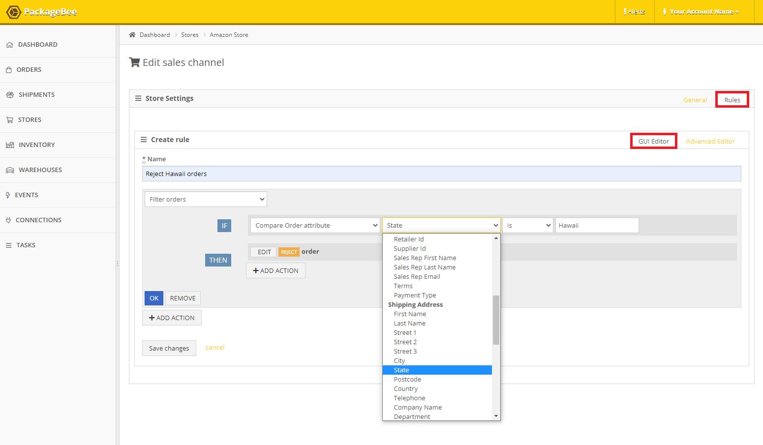 PackageBee - GUI Editor