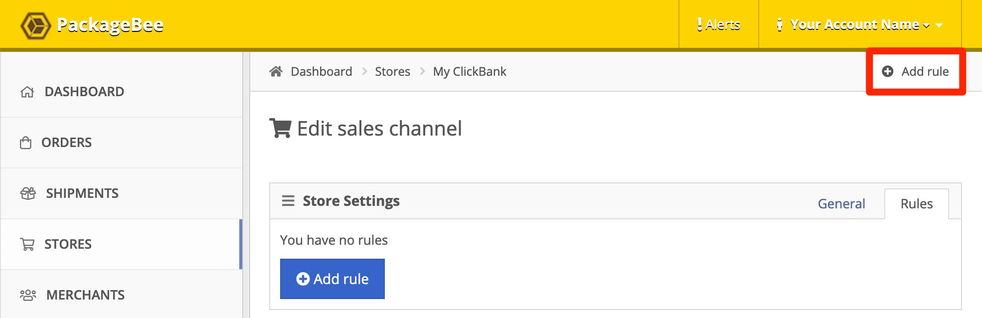 Click Add a Rule.