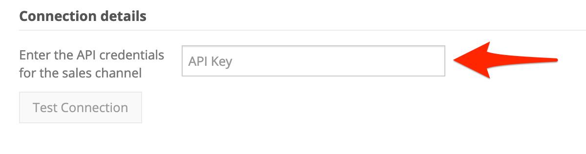 In Connection Details, for API Key, enter your Handshake API token.